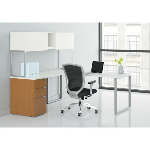 HON Voi Executive Desk with Stack-On Storage