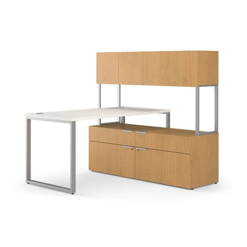 HON Voi Executive Desk with Stack 2 Locking Lateral