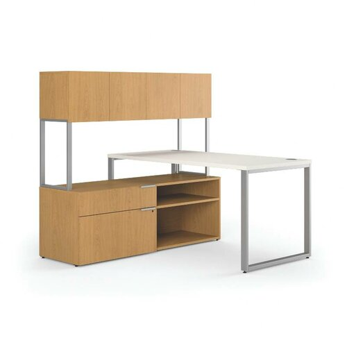 HON Voi Executive Desk with Stack 1 Locking Lateral