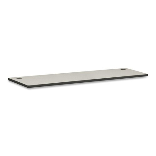 HON Regular Worksurface, White Laminate/Charcoal, 4 Sizes