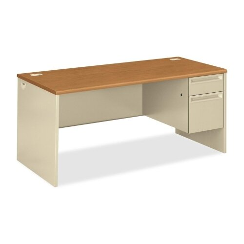 HON Pedestal Desk with Lock