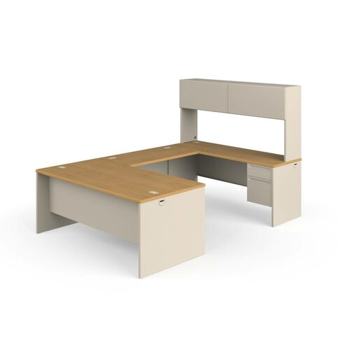 HON 38000 Series U-Shaped Executive Desk with Hutch