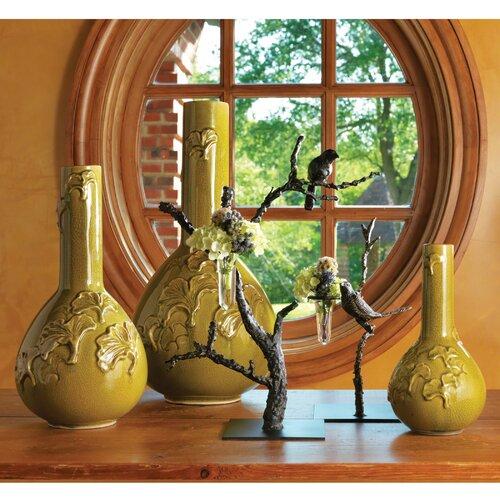 Gingko Crackle Vase