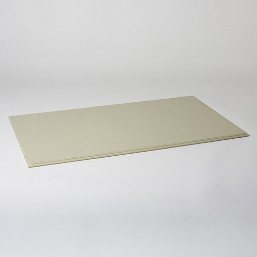 Global Views Refined Leather Desk Blotter in Ivory