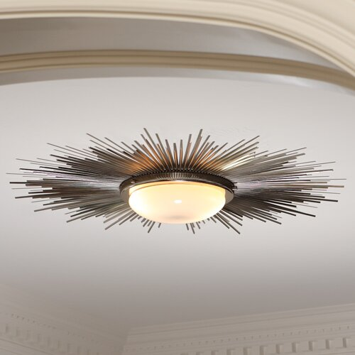 2 Light Sunburst Light Fixture