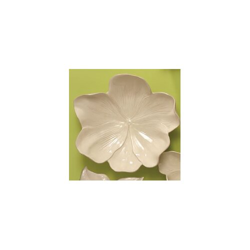 Magnolia Bowl Decorative Accent in Ivory
