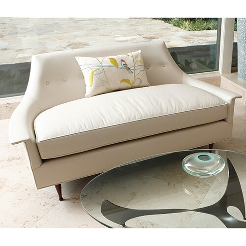 Brigitte Cowhide Leather Loveseat