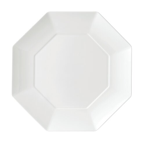 "Wedgwood Ashlar White Octagonal 10.9"" Dinner Plate"