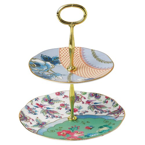 Wedgwood Butterfly Bloom 2-Tier Gift Cake Stand