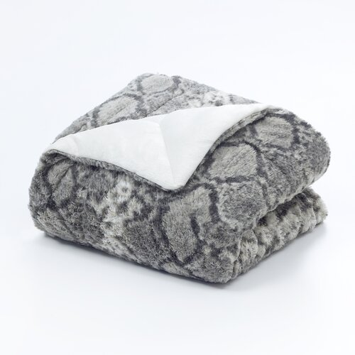 Snakeskin Polyester Throw Blanket