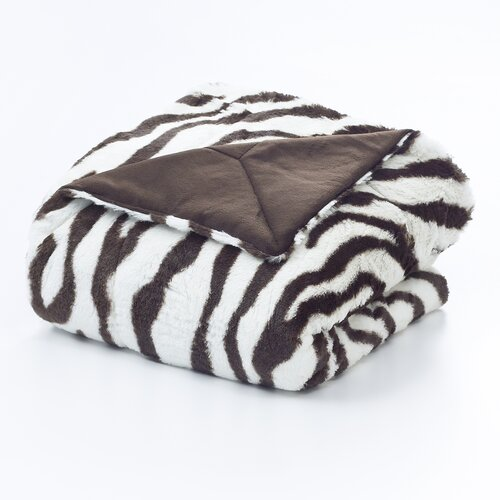 Vue by Ellery Zebra Polyester Throw Blanket
