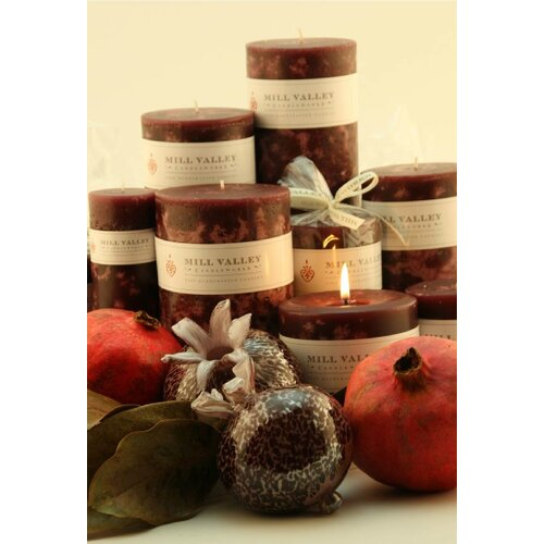 Mill Valley Candleworks Pomegranate Scented Candle