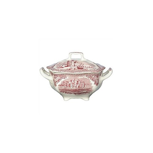 Johnson Brothers Old Britain Castles Pink Sugar Bowl with Lid