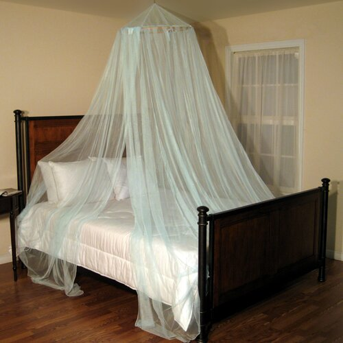 Casablanca Oasis Round Hoop Sheer Bed Canopy Net