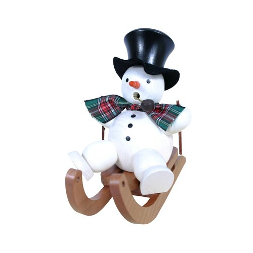 Christian Ulbricht Snowman on Sled Incense Burner