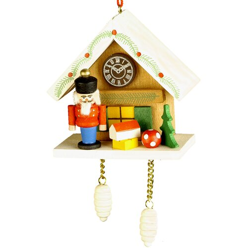 Christian Ulbricht Nutcracker Cuckoo Clock Ornament