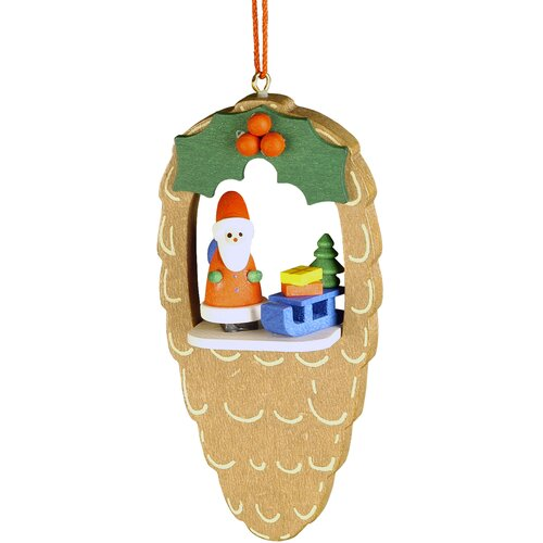Christian Ulbricht Santa Pinecone Ornament