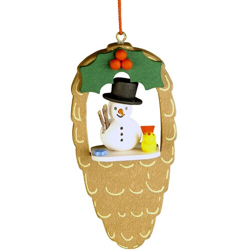 Christian Ulbricht Snowman Pinecone Ornament