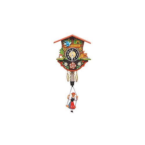 Swinging Girl Chalet Wall Clock