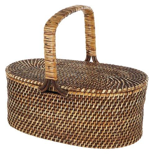 Eco-Friendly Oval Picnic Basket