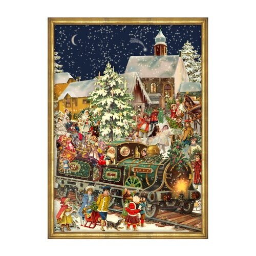 Alexander Taron Large Santa and Train Advent Calendar