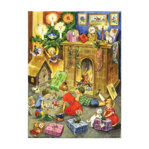 Alexander Taron Large Fireplace Advent Calendar