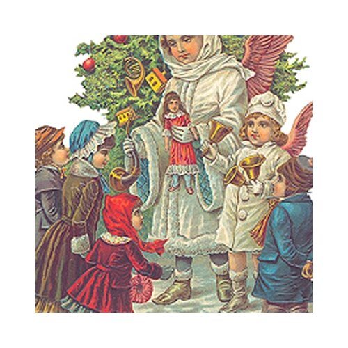 Alexander Taron Die Cut and Embossed Standing Card with Christ Child Design