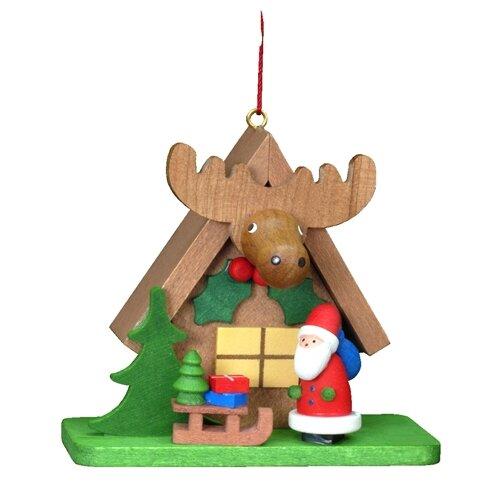 Alexander Taron Christian Ulbricht Tiny Santa with an ELK Ornament