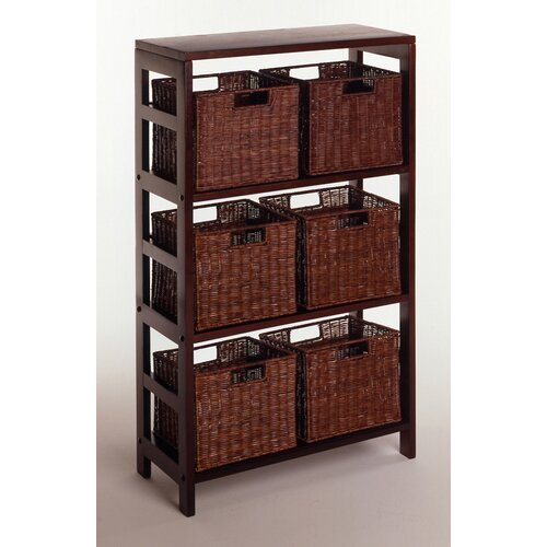 Winsome Leo Storage Shelf and Baskets