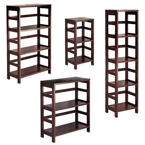 Winsome Espresso Wide 3 Section Storage Shelf