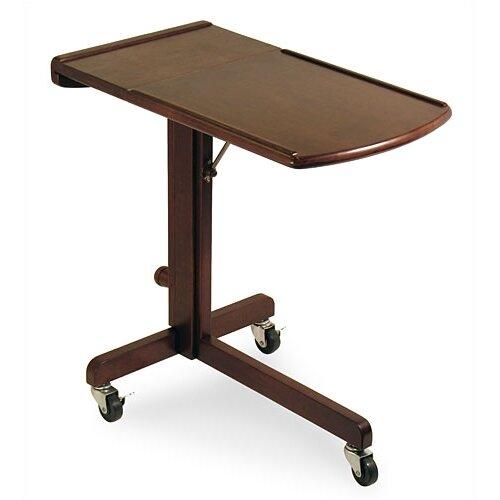 Winsome Antique Walnut Adjustable Laptop Cart