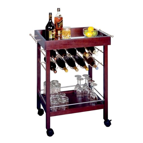 Winsome Espresso 10 Bottle Wine Rack