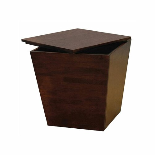 Winsome Regalia Walnut Storage Side Table Reviews Wayfair