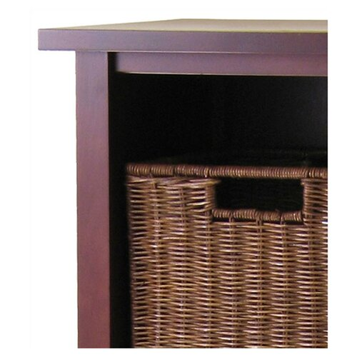Winsome Milan Tall Storage Shelf with Baskets