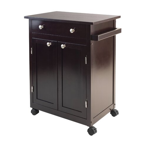 Savannah Kitchen Cart with Wood Top