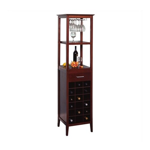 Winsome Espresso 18 Bottle Wine Rack