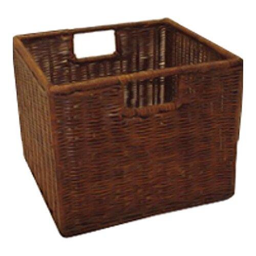 Winsome Espresso Wicker Basket Set