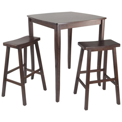 Winsome Inglewood 3 Piece Counter Height Pub Table Set amp Reviews Wayfair