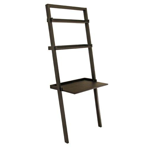 winsome bailey leaning shelf desk reviews wayfair. Black Bedroom Furniture Sets. Home Design Ideas