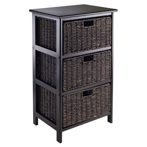 Winsome Omaha Storage Rack with 3 Foldable Baskets