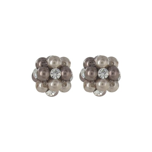 Simulated Cultured Pearl Cluster Stud Earring