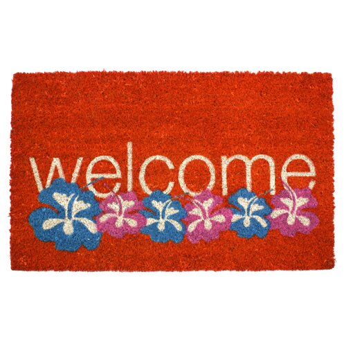 Entryways Warm Welcome Non Slip Coir Doormat