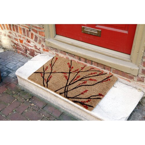 Entryways Handmade Winter Berries Doormat