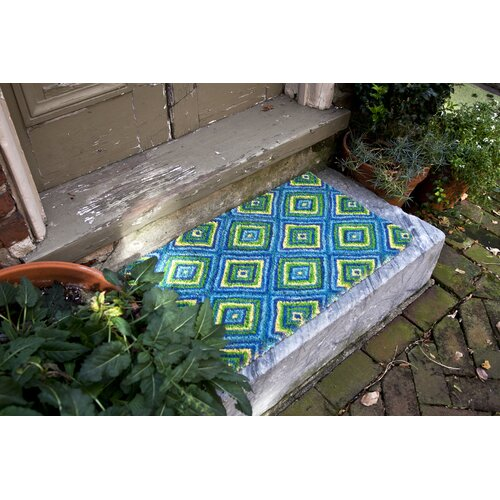 Entryways Handmade Summer Geometric Doormat