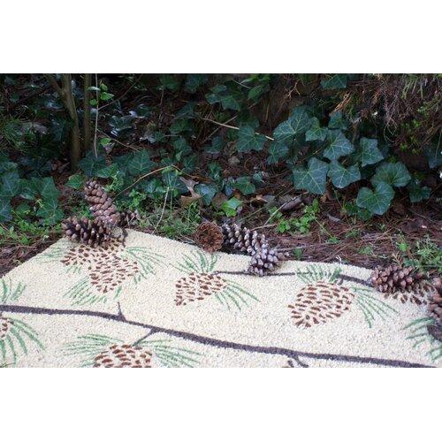 Entryways Sweet Home Pine Cones Doormat
