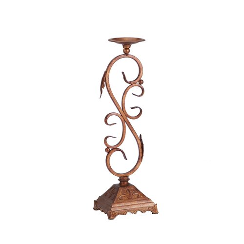 Bombay Heritage Scroll Metal Candlestick