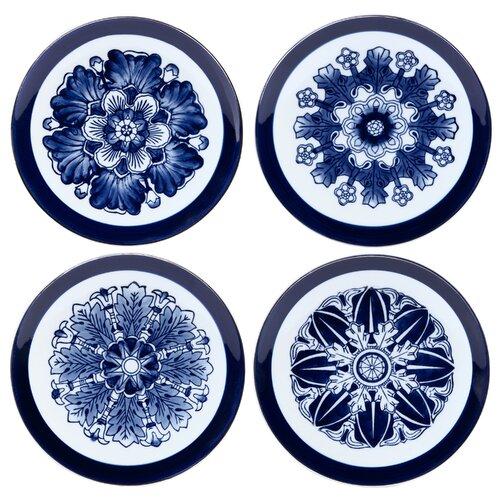 "Bombay Heritage Rosette Canape 6.25"" Dessert Plate"