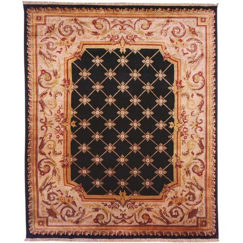 Wildon Home ® Le Palais Black / Ivory Rug