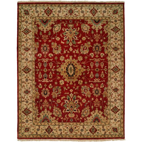 Wildon Home ® Red/Ivory Rug