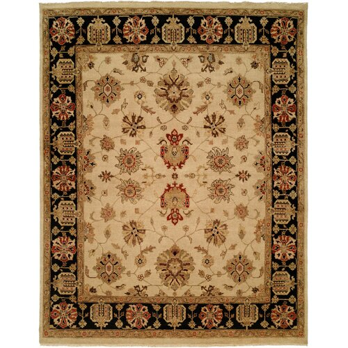Wildon Home ® Ivory / Black Rug